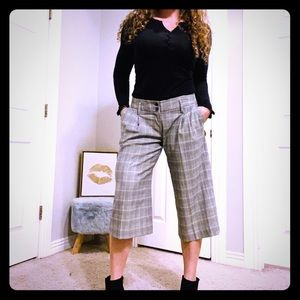 Limited retro cropped wide leg pants